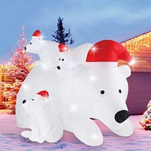 Inflatable Christmas Polar Bears