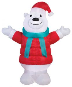 Inflatable Polar Bear Christmas Yard Decorations
